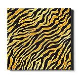 N\A Einzigartige Wandmalerei Tierhaut Tiger Streifen Schwarz Malerei Leinwand Wandkunst Leinwand Dekorative Malerei Geeignet für Wohnkultur