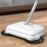 YBZS Push Broom Household, Zwei in Einer Hand Push Broom Cleaner Boden Home Küchenkehrmaschine Winddichter Mopproboter Vakuumkehrmaschine Magic Handle H