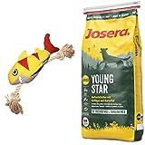 Josera 15 kg YoungStar + Hundespielzeug Hai von Hunter