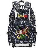 ZZGOO-LL Dragon Ball Son Goku/Vegeta IV Anime Laptop Rucksack Tasche Travel Laptop Daypacks Leichte Tasche mit USB-A