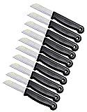 Schwertkrone Schälmesser Set Solingen - 10 Obst- & Gemüse-Messer, Bandstahl, rostfrei, schwarz