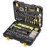 Werkzeugkoffer Proster 108 stück Haushalts-Werkzeugkoffer Haus Werkzeug Satz Reparierwerkzeug Wichtige Werkzeuge Koffer Einschließlich Klauenhammer-Ratschenschlüssel-Maßband für DIY Werkstatt