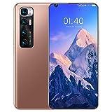 M10 Ultra Smartphone ohne Vertrag Android 10, 4G LTE 7,2 Zoll Display, 4GB RAM+64GB ROM, 6000mAh Akku, 24MP+48MP Kamera, Fingerabdruck, Face ID, Dual SIM Handy,Gold