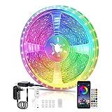 LED Strips 10M, RGB Smart LED Streifen Farbwechsel LED Band, Musik Sync LED Lichterkette mit Fernbedienung und App-steuerung, für Leiste, Zuhause, Schlafzimmer, Küche, Party