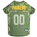 NFL Green Bay Packers Hunde-Trikot, Größe L, Camouflage, PET-Trikot, erhältlich in 5 Größen und 32 NFL-Teams, Jagdhunde-Shirt
