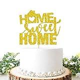 Home Sweet Home Tortenaufsatz, Aufschrift'New Home, Welcome Home' Schild, Tortendekoration, Hauseinweihung, Party-Dekoration, Gold G
