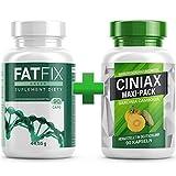 FatFix + Ciniax Kapseln - Maxi-Pack 2x 90 Kapseln, Fburner mit Garcinia Cambogia Extrakt, Fitness Sommer Aktion Keto (2x1 Dose)