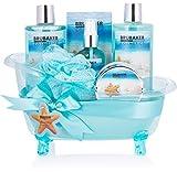 BRUBAKER Cosmetics Bade- und Dusch Set Summer Dreams - 7-teiliges Geschenkset in dekorativer W