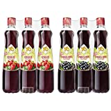 Yo Sirup Erdbeere, 6er Pack, PET (6 x 700 ml) & Schwarze Ribisel, 6er Pack, PET (6 x 700 ml)