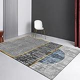 VOVTT Home Teppich Wohnzimmer Kurzflor Abstraktes Geometrisches Muster,60x90cm