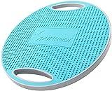 Sportneer Wobble Balance Board, Übungsbalance Stabilitäts Trainer Tragbares Balance Board mit Griff für Workout Core Trainer & Fitnessstudio 41.5 cm Durchmesser, rutschfeste TPE Bump Oberfläche, Blau