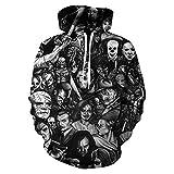 DREAMING-Frühling und Herbst Langarm T-Shirt Top 3D-Druck Pullover Kapuze locker lässig Pullover + Kordelzug Hosen Hosen Sportswear L