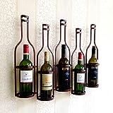 Lwjj Wand- Metall Weinregal Flaschenständer for Flaschen-Dekorative Wandweinregal (Color : C)