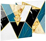 Fliesenaufkleber Küche Rücken Wand Fliesen Aufkleber Einfache Luxus Stil wasserdichte Öldichte Aufkleber Fliesen Dekorative Selbstkleber Für Küche Wohnzimmer Badezimmer Dekoration Edelstein Grün