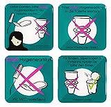 BIKE-label Schild 3D Aufkleber 80 x 80 mm 4er Set Keine Hygieneartikel ins WC 900221