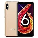 Smartphone ohne Vertrag KXD 6A Günstige 3G-Android-Smartphone 5,5-Zoll-Vollbild 8GB ROM (64GB Erweiterbar) Face ID 2500-mAh-Akku 5MP Kameras Dual SIM, Quad-Core, Global Version - Golden