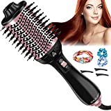 Haartrockner Warmluftbürste, Raxurt 4 in 1 Multifunktion One Step Hairstyler Fönbürste Heißluftkamm mit 3 Temperaturen, Negativer Lon Stylingbürsten Volumizer Styler Heißluftbürste für Alle Haartypen