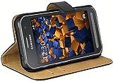 mumbi Echt Leder Bookstyle Case kompatibel mit Samsung Galaxy Xcover 3 Hülle Leder Tasche Case Wallet, schwarz