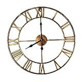LUNANA Römische Wanduhr, Große Wanduhr, rund, Moderne Uhren, für Wohnzimmer-Dekor 40cm / 50cm