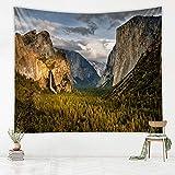 KHKJ Natürliche Höhlenlandschaft Wandteppich natürliche psychedelische Wohnkultur Wandverkleidung Wandteppich Canyon Wasserfall Teppich A3 150x130