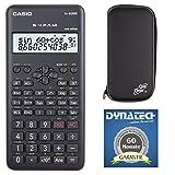 Casio Taschenrechner FX-82 MS 2nd + kompatible Schutztasche Tischrechner Garantie auf 60 Monate - wissenschaftlicher Schulrechner Nicht programmierbar elektronisches Display Batterie 240 Funktionen