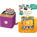 tigermedia 1201 tigerbox - Touch Streaming-Box, Lila + 4204 12 Monate tigertones Premium-Zugang