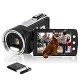 HG8162 Digitale Videokamera 1080P FHD Camcorder 24MP / 2,7' TFT LCD-Bildschirm / 270 Grad drehbarer Camcorder für Kinder/Jugendliche/Studenten/Anfänger/ältere Menschen