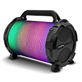 Audiocore AC885 Bazooka Bluetooth Lautsprecher FM Radio Mp3-Player MicroSD Akku Tragbar AUX (150W Gehäuse mit LED Beleuchtung)