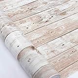 Hode Holz Folie Selbstklebend Vintage Holzoptik Klebefolie für Möbel Küche Wand Kommode Schrank Tisch Wasserdicht Vinyl Möbelfolie 45X300cm