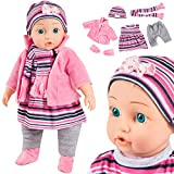 Kinderplay Babypuppe interaktive Spielpuppe Weichkörperpuppe KP4839 NEU Baby Puppe