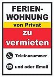 HB-Druck Ferienwohnung zu vermieten von Privat Hochkant A5 Rückseite selbstklebend
