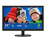 Philips Monitors 223V5LHSB2 - 22 Zoll FHD Monitor, FlickerFree (1920x1080, 60 Hz, VGA, HDMI) schw