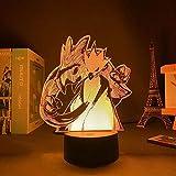 3D Illusionslampe LED Nachtlicht World of Warcraft Sylvanas Windrunner Baby Schlafen Nachtlicht Kreative USB Tischlampe für Schlafzimmer Kinderzimmer Dek