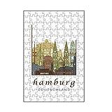artboxONE-Puzzle S (112 Teile) Städte / Hamburg Hamburg Skyline Light Brow
