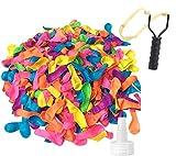 TK Gruppe Timo Klingler Wasserbomben Set mit 1000x Wasser Ballons & 1x Wasserbombenschleuder für Kinder & Erwachsene - Wasser Luftballons in bunten Farben (1000x)