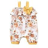 JERFER Neugeborenes Säugling Baby Mädchen Unterhose Rüsche Blumen Gedruckt Overall Strampler einstellen E19
