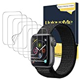 UniqueMe [6 Stück] Schutzfolie für Watch 38mm séries 3/2/1 [Wasserfreie Adsorption] [Flexible Folie] Soft HD TPU Clear Anti-Scratch Display