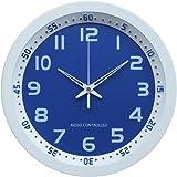 Technoline, WT 8971 Funk-Wanduhr, Ø 30cm, weiß-blau