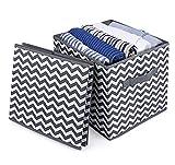 Anstore 2er-Pack Faltbare aufbewahrungsbox in Würfelform Aufbewahrungskiste faltbox aus Stoff 30 x 30 x 30 cm