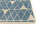 HEVO ® Noah Mila Kettelteppich in Farbe Blau - Verloursteppich Muster