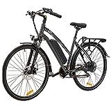 VECOCRAFT ebike 27,5 Zoll elektrofahrrad Trekking Fahrrad Mit Shimano 8-Gang mit 36V 468Wh Lithium Batterie mit Zellen von Samsung Citybike Für Herren,Damen Schwarz