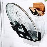Wandmontierter Topf-Deckel-Rack-Schneidebrett Pan-Deckel-Organizer-Halter Küchenutensilien-Werkzeug, Schwarz - Topf-Deckel-Rack Topf-Deckel-Halter