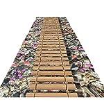 ditan XIAWU 3D XW Wohnzimmer Teppich Gang Veranda Treppe Kann Geschnitten Werden Zuhause rutschfest (Color : B, Size : 120x500cm)