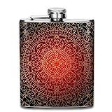 Cute Bi Marokkanische Orientalische Rote Goldart und Weise Bewegliche Edelstahl Auslaufsichere Flasche des Wein 7Oz Spielraum Kampierende Flasche