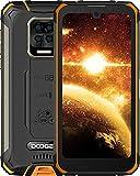 DOOGEE S59 (Offiziell) Outdoor Smartphone (2021) ohne Vertrag 10050mAh Akku Android 10 5.71 Zoll Qcta-Core Handy 4GB RAM+64GB ROM/256GB 16+8MP Kameras IP68/IP69K NFC GPS Orange