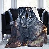 XZDPPTBLN 3D Drucken Decke Niedlicher Cartoon-Tierwolf Kuscheldecke Flanell Fleecedecke Sofadecke Bettüberwurf Flauschige Weiche Warme Sofaüberwurf Decke für Büro, Kinder 70cm x 100cm