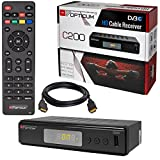 HB-DIGITAL Set: Kabel Receiver Kabelreceiver - DVB-C HB-DIGITAL Set: Opticum HD C200 Receiver für digitales Kabelfernsehen (HDMI, SCART, USB 2.0, Mediaplayer) + HDMI Kabel
