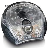Lenco SCD24 - CD-Player für Kinder - CD-Radio - Stereoanlage - Boombox - UKW Radiotuner - Titel Speicher - 2 x 1,5 W RMS-Leistung - Netz- und Batteriebetrieb - Transparent
