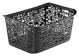 Rotho Urban kleiner Aufbewahrungskorb, Kunststoff (PP), schwarz, 5 Liter (28 x 20,4 x 13 cm)