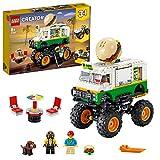 Lego 31104 Creator 3-in-1 Burger-Monster-Truck - Geländewagen - Traktor Bauset, Fahrzeug-Kollek